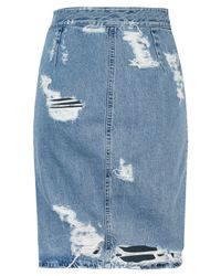Acne Studios - Blue Fine Trash Denim Skirt - Lyst