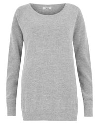 Acne Studios | Gray Grey Melange Ry Angora Raglan Sweater | Lyst