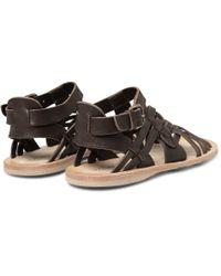 Alexander McQueen - Brown Leather Sandals for Men - Lyst