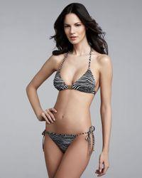 Balmain | Gray String Bikini | Lyst