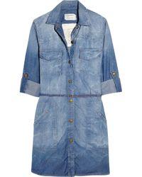 Current/Elliott | Blue Sarah Shirt Dress - Colony | Lyst