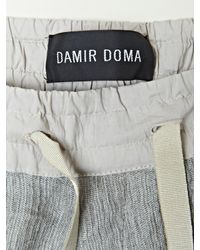 Damir Doma | Gray Mens Paama Front Overlap Shorts for Men | Lyst