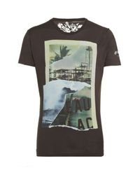 DIESEL | Black Ripped Photo Print T-shirt for Men | Lyst