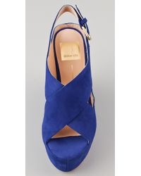 Dolce Vita | Blue Womens Julie Wedge Sandal | Lyst