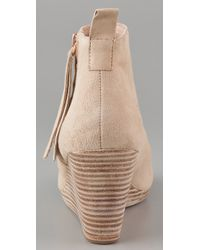 Dolce Vita | Natural Paxx Wedge Booties | Lyst