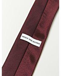Dries Van Noten - Purple Mens Skinny Tie for Men - Lyst
