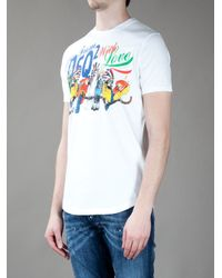 DSquared² | White Printed T-shirt for Men | Lyst