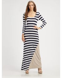 Ella Moss | Blue Chelsea Striped Maxi Dress | Lyst