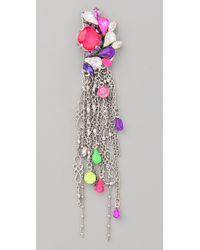 Erickson Beamon - Purple Color Me Crazy Earrings - Lyst