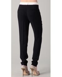 Helmut Lang | Black Skinny Slouchy Trousers | Lyst