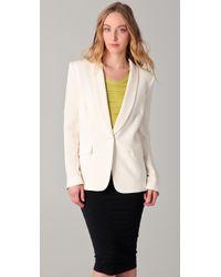 IRO | White Alessia Tuxedo Jacket | Lyst
