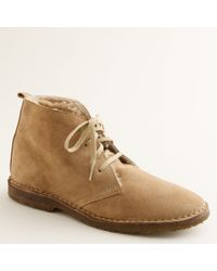 J.Crew | Natural Suede Shearling-lined Macalister Boots for Men | Lyst