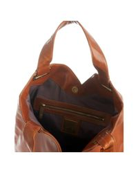 Kooba | Brown Saddle Leather Ryder Zip Pocket Large Tote | Lyst