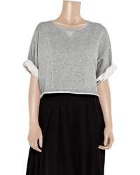 Lover - Gray Practise Cropped Cotton Sweater - Lyst