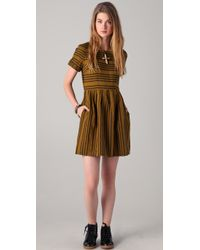 Madewell | Brown Striped Avalon Dress | Lyst