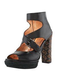 Marc Jacobs | Black Woven-heel Sandal | Lyst