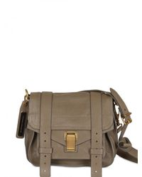 Proenza Schouler | Gray Ps1 Small Lux Satchel | Lyst