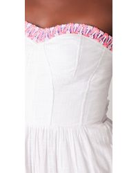 Rebecca Taylor - White Beaded Gown - Lyst