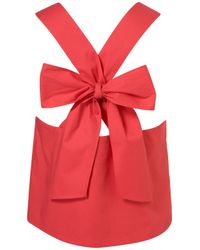 TOPSHOP | Red Bow Back Vest | Lyst