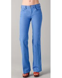 Tory Burch | Blue Leigh Flare Jeans | Lyst