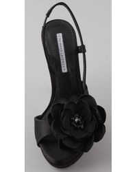 Vera Wang Lavender - Black Savy Sling Back Sandals - Lyst