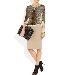Dolce & Gabbana - Natural Stretch Cotton-jersey Pencil Skirt - Lyst