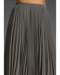 Halston Heritage   Gray Pleated Skirt   Lyst