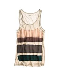 Madewell - Natural Silk Stripe Tank - Lyst