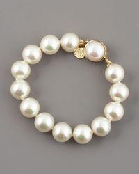 Majorica | White Pearl Bracelet | Lyst