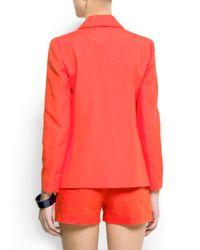 Mango - Orange Smoking Suit Jacket - Lyst
