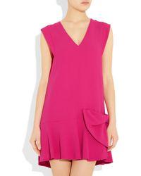 Miu Miu   Pink Dropped-waist Crepe Dress   Lyst