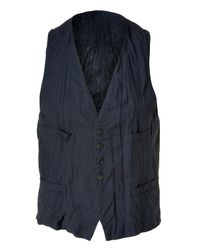 Neil Barrett | Blue Navy Crinkled Vest for Men | Lyst