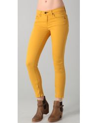 Rag & Bone | Yellow Zipper Capri Jeans | Lyst