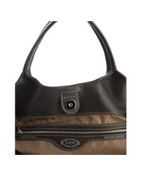 Tod's | Black Leather 24h Shopping Media Tote | Lyst