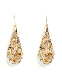 Alexis Bittar | Metallic Golden Druzy Droplet Tear Drop Earrings | Lyst