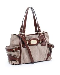 Michael Kors - Brown Exclusive Gansevoort Medium Satchel, Hemp/mocha - Lyst
