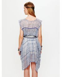 Free People | Blue Fp New Romantics Geo Embroidered Cutout Dress | Lyst