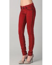 Genetic Denim   Red The Shane Cigarette Legging Jeans   Lyst