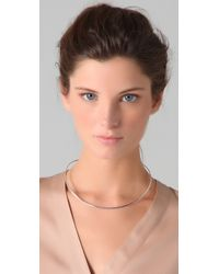 Jennifer Zeuner - Metallic Thin Choker Necklace - Lyst