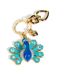 Juicy Couture | Gold/blue Peacock Key Chain | Lyst