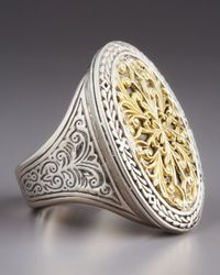Konstantino - Metallic Oval Filigree Ring - Lyst