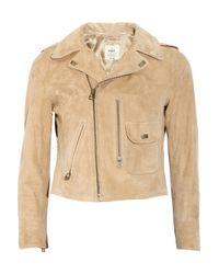 M.i.h Jeans | Natural Pistol Suede Biker Jacket | Lyst