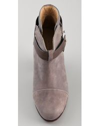 Rag & Bone - Gray Harrow Booties - Lyst