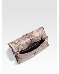 Stella McCartney - Pink Falabella Snake-Print Shoulder Bag - Lyst