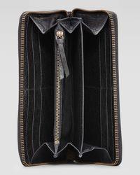 Balenciaga - Black Classic Lambskin Zip Continental Wallet - Lyst