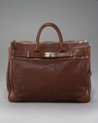 Brunello Cucinelli - Brown Leather Briefcase for Men - Lyst
