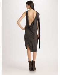 DRKSHDW by Rick Owens | Brown Cotton Dress | Lyst