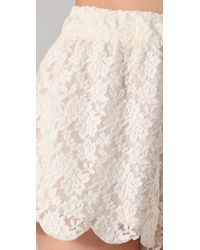 Free People   Natural Scalloped Lace Shorts   Lyst