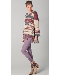 Free People | Purple Milenium Cropped Colored Skinny Jeans | Lyst