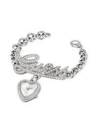 Guess - Metallic Signature Heart Bracelet Watch - Lyst